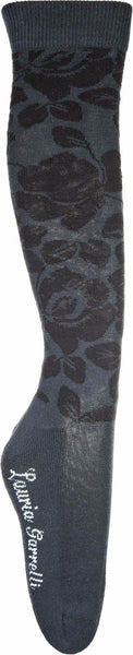 HKM Lauria Garrelli Paris Flower Children's Riding Socks in Deep Blue