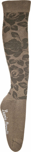 HKM Lauria Garrelli Paris Flower Children's Riding Socks in Deep Green