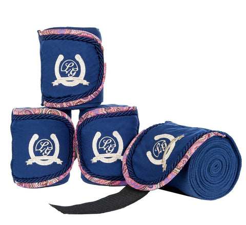 HKM Lauria Garrelli Queens Bandages in Navy and Paisley 8273