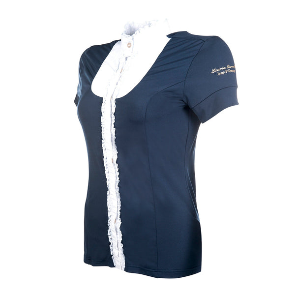 HKM Lauria Garrelli Queens Competition Shirt Navy Studio Side View 8168