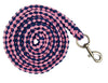 HKM Lauria Garrelli Queens Lead Rope with Snap Hook in Pink and Navy 8276