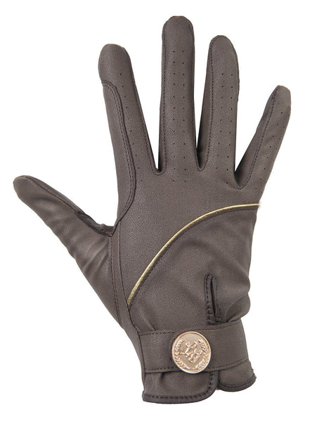 HKM Lauria Garrelli Queens Limited Edition Riding Gloves - XS / Brown | EQUUS