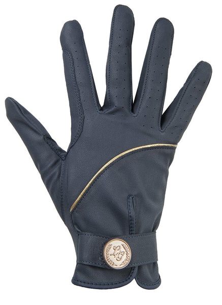 HKM Lauria Garrelli Queens Limited Edition Riding Gloves - XS / Navy | EQUUS