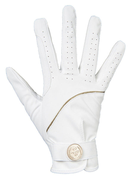 HKM Lauria Garrelli Queens Limited Edition Riding Gloves - XS / White | EQUUS