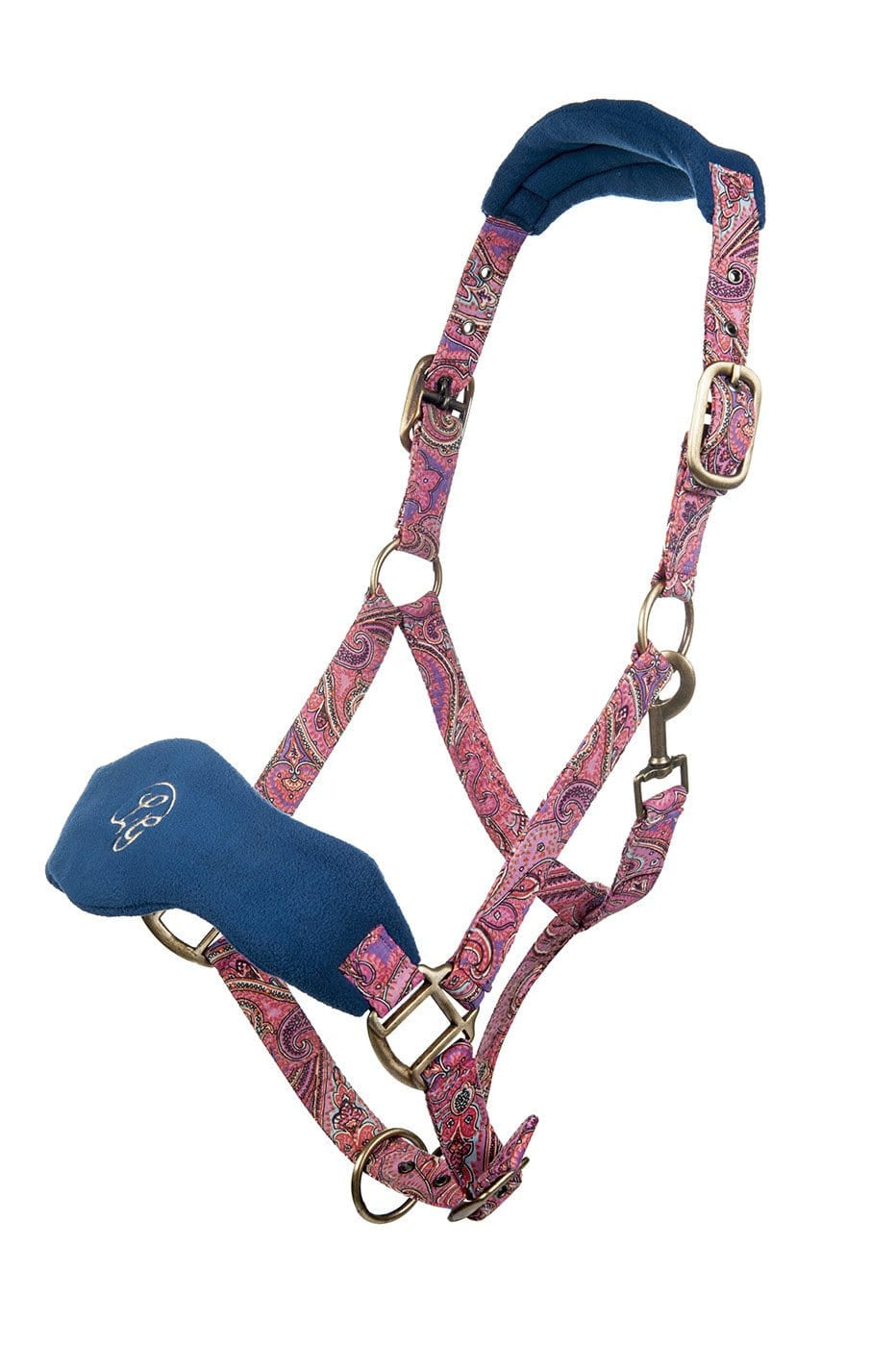 HKM Lauria Garrelli Queens Paisley Head Collar in Navy and Paisley 9039