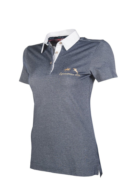 HKM Lauria Garrelli Queens Polo Shirt in Navy Side View 8166