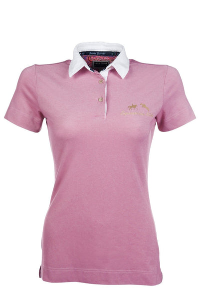 HKM Lauria Garrelli Queens Polo Shirt in Pink Front View 8166