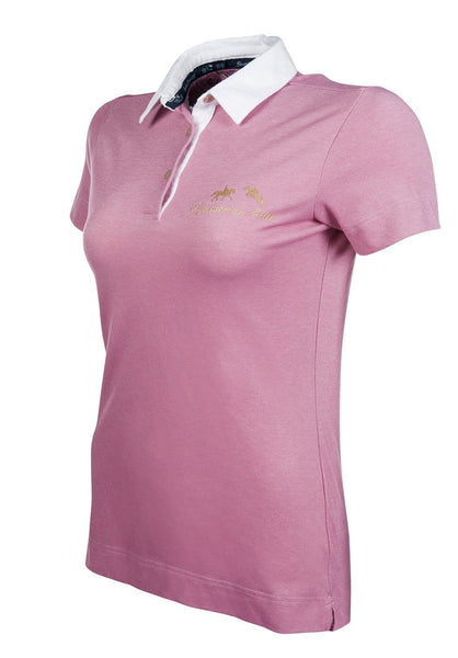 HKM Lauria Garrelli Queens Polo Shirt in Pink Side View 8166