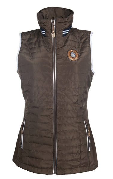 HKM Lauria Garrelli Queens Riding Gilet in Brown 8287