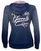 HKM Lauria Garrelli Queens Sweat Jacket in Navy Rear View 8165