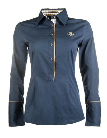 HKM Lauria Garrelli Roma Riding Shirt in Middle Blue
