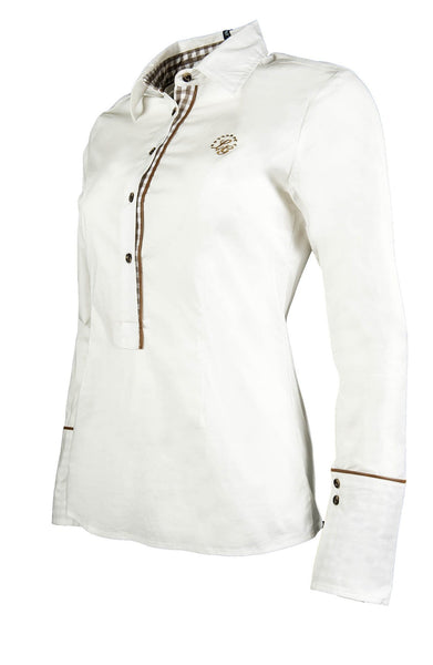 HKM Lauria Garrelli Roma Riding Shirt in White Side