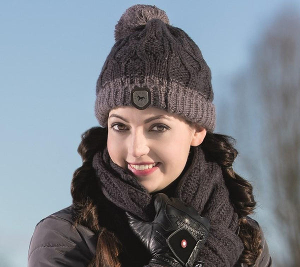 HKM Lauria Garrelli Scotland Bobble Hat worn by Rider 9159