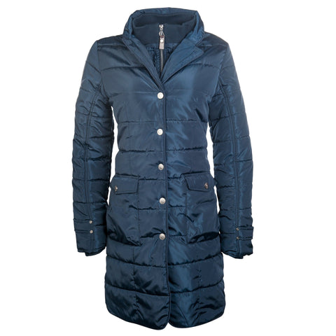 HKM Lauria Garrelli Scotland Coat in Blue Front View 8716