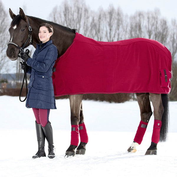 HKM Lauria Garrelli Scotland Cooler Rug Wine Red Lifestyle 8825/3100