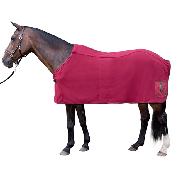 HKM Lauria Garrelli Scotland Cooler Rug Wine Red On Horse 8825/3100