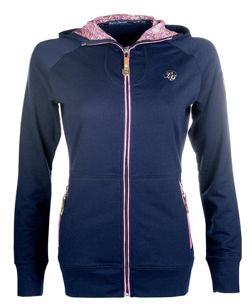 HKM Lauria Garrelli Queens Sweat Jacket in Navy Front View 8165