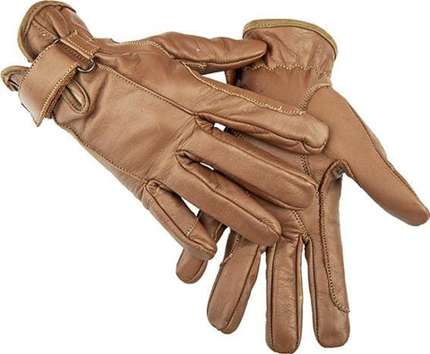 HKM Leather Gloves in Brown 1213/2400