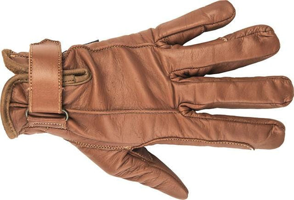 HKM Leather Gloves in Brown top view 1213/2400