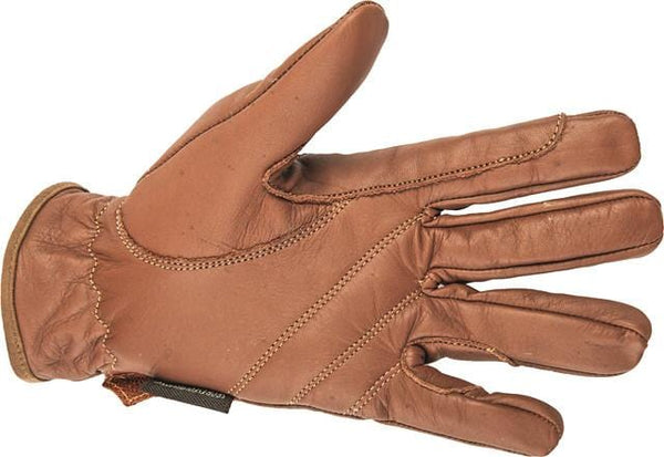 HKM Leather Gloves in Brown palm view 1213/2400