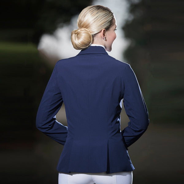 HKM Light Competition Jacket Navy Rear View 8680