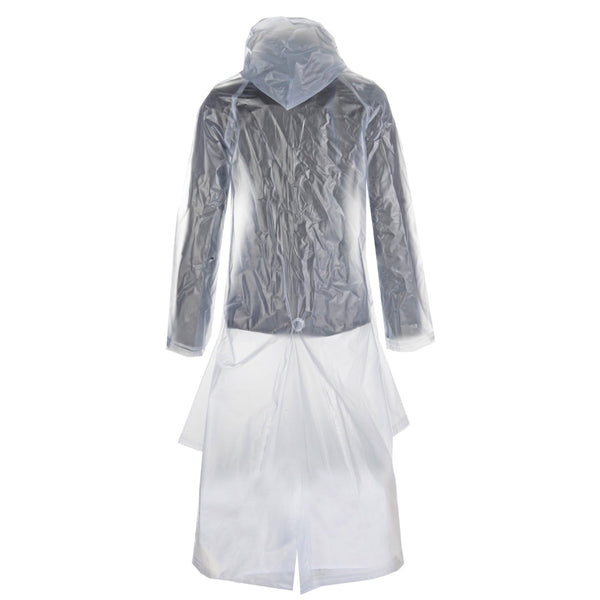 HKM Children's Long Transparent Rain Mac Studio Rear View 8243