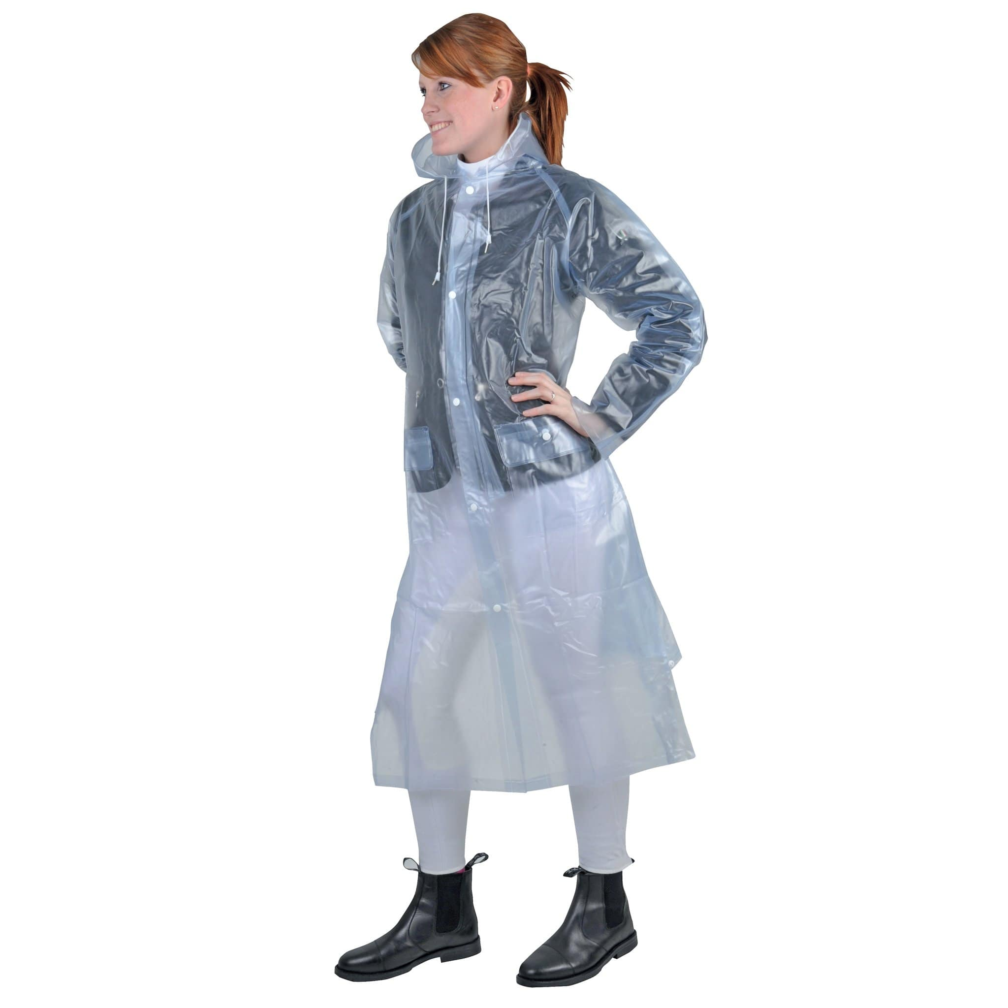HKM Children's Long Transparent Rain Mac Lifestyle 8243