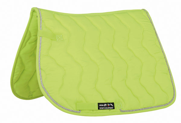 HKM Neon Saddle Cloth in Neon Green 3044