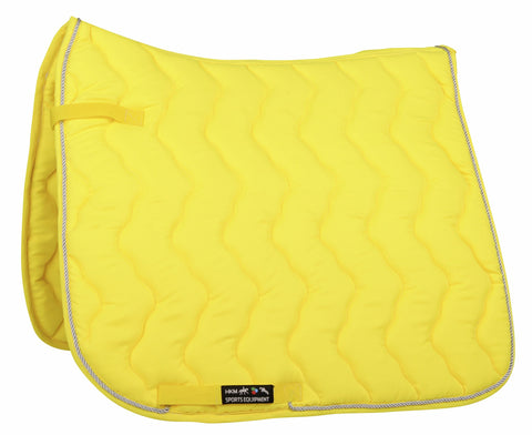HKM Neon Saddle Cloth in Neon Yellow 3044