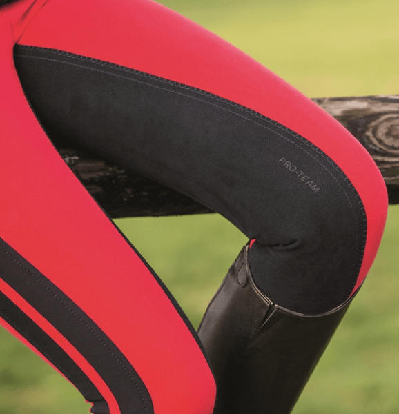 HKM Pro Team Boston 3/4 Alos Seat Breeches Close Up