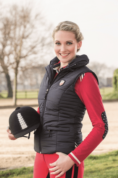 HKM Pro Team Boston Riding Vest worn by Model Side View