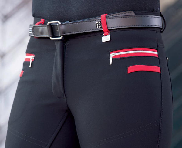 HKM Pro Team Boston Softshell Silicone Breech in Navy Front View