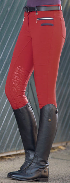 HKM Pro Team Boston Softshell Silicone Breech in Red Front