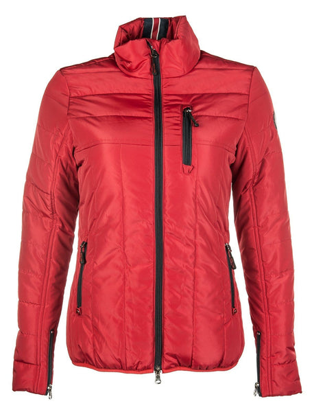 HKM Pro Team Dynamic Quilted Riding Jacket - XS / Wine Red | EQUUS