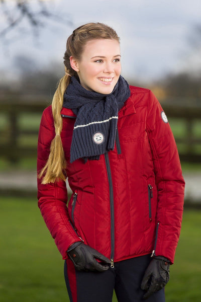 HKM Pro Team Dynamic Children's Quilted Riding Jacket - 6-7 / Wine Red | EQUUS