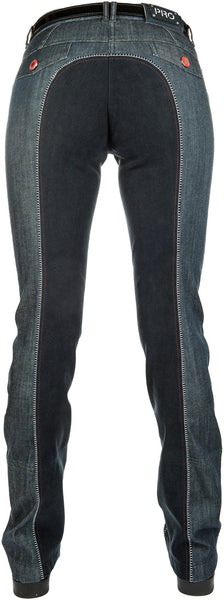 HKM Pro Team Dynamic Full Seat Denim Jodhpurs Rear View
