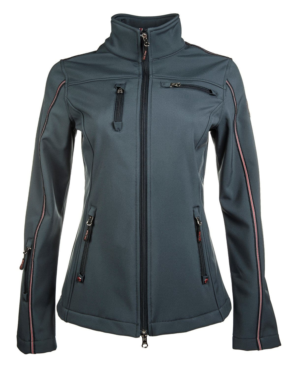 HKM Pro Team Dynamic Softshell Riding Jacket in Deep Blue