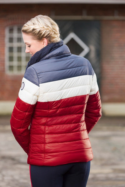 HKM Pro Team Dynamic Quilted Three Colours Children's Riding Jacket - EQUUS