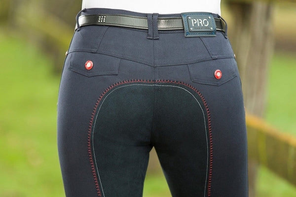 HKM Pro Team Dynamic Children's Three Quarter Alos Seat Riding Breeches Back