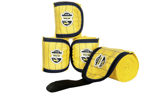 HKM Pro Team Flash Bandages in Yellow Full Set