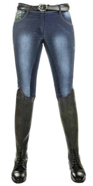 HKM Pro Team Flash Jeggings Breeches Front View