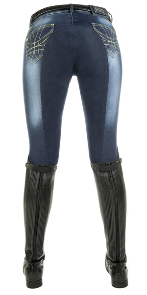 HKM Pro Team Flash Jeggings Breeches Rear View