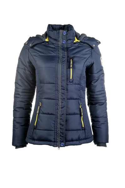 HKM Pro Team Flash Quilted Jacket in Deep Blue