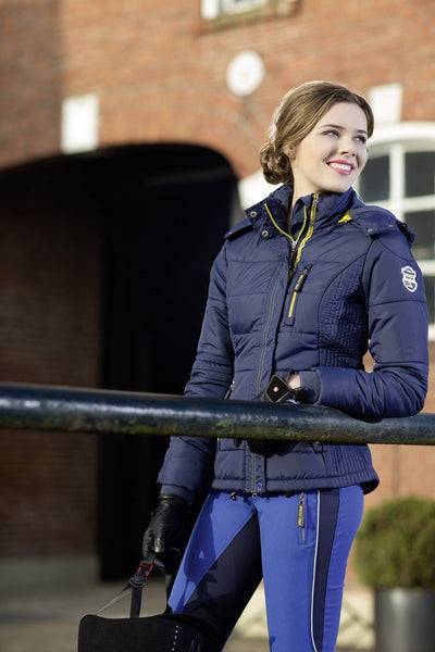 HKM Pro Team Flash Quilted Jacket worn by Rider