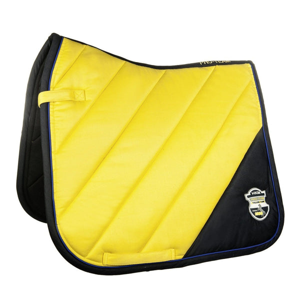 HKM Pro Team Flash Saddle Cloth in Yellow