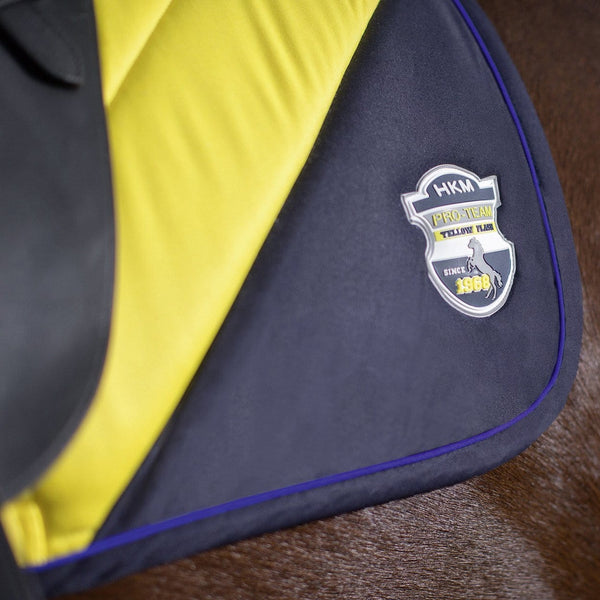 HKM Pro Team Flash Saddle Cloth worn by Horse Badge Inset