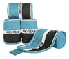 HKM Pro Team Helsinki Polar Fleece Bandages - Aqua White Navy / 200cm | EQUUS