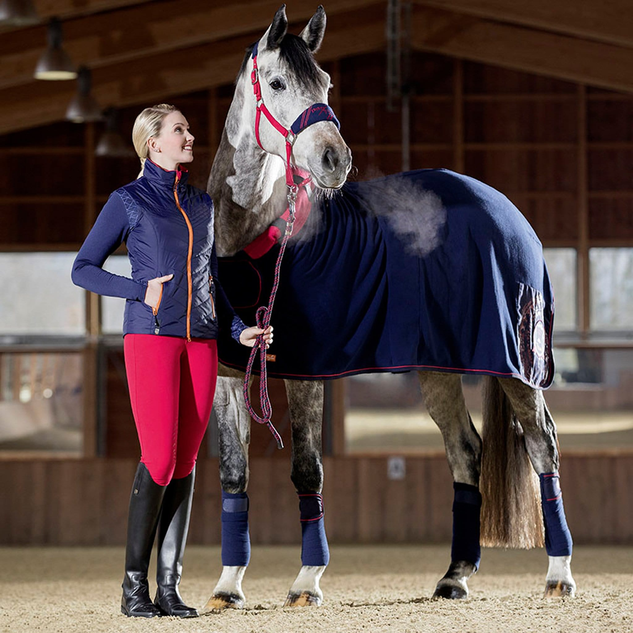 HKM Pro Team Hickstead Cooler with Neck Deep Blue Lifestyle 10234/6900