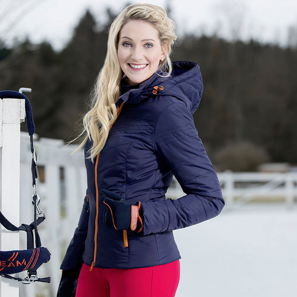 HKM Pro Team Hickstead Quilted Jacket Deep Blue Lifestyle 10162/6900