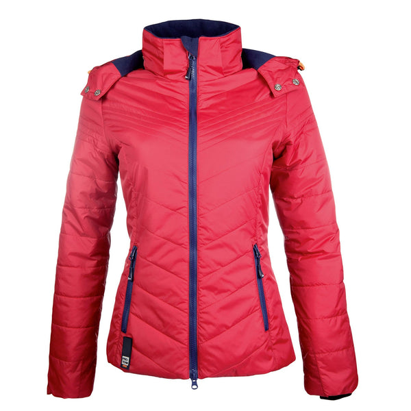 HKM Pro Team Hickstead Quilted Jacket Red Studio 10162/3200
